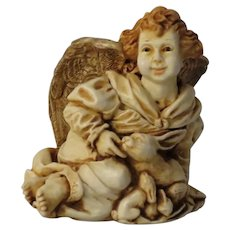 Harmony Kingdom Angelique Joie de Vivre Box Figurine of an Angel with Rabbits