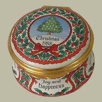 Halcyon Days Enamels Christmas Tree 1988 Enamel Box