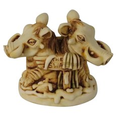 Harmony Kingdom Mud Bath Treasure Jest Box Figurine