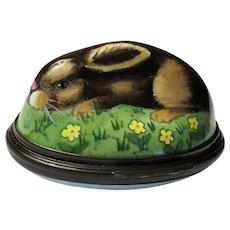 Halcyon Days Wild Rabbit Bonbonniere Enamel Box