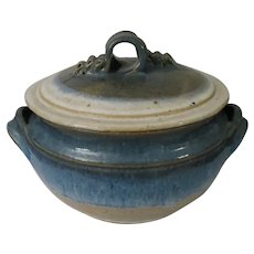 Wheel Thrown Pottery Lidded Casserole Serving Dish by Potter Judy Backston