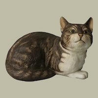 Fascination Tabby Cat Figurine by Eric Tenney for Franklin Porcelain