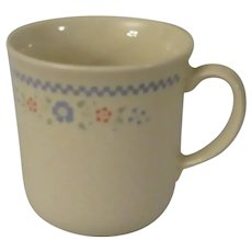 Corning Corelle Needlepoint Coffee Mugs - set of four