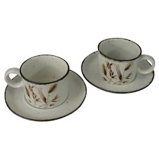 Midwinter Stonehenge Wild Oats Coffee Cups and Saucers - Set of 2