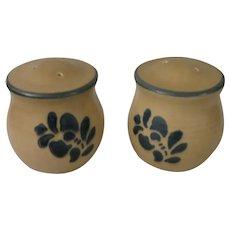 Pfaltzgraff  Folk Art Stoneware Salt & Pepper Shakers