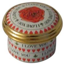 Halcyon Days I Love You Mini Enamel Box