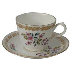 Royal Grafton Bone China Floral Teacup and Saucer