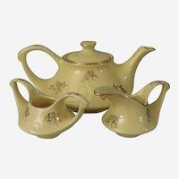 Pearl China Aladdin Gold Floral and Yellow Tea Set