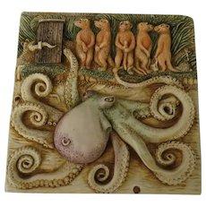 Harmony Kingdom Tilt-a-Whirl Picturesque Series Noah's Park Tile by Ann Richmond
