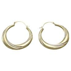 Womens Horseshoe Hoop Earrings 14k Yellow Gold Vintage Estate Comfortable