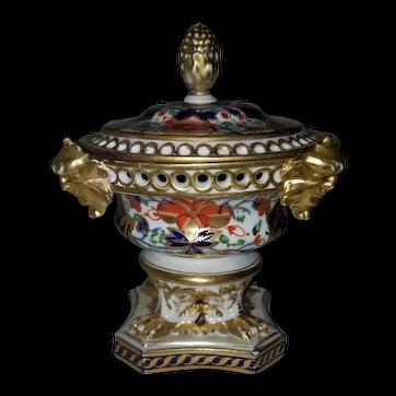 Derby imari potpourri urn, English, 1806-25