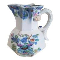 """Small Mason's Ironstone """"Bamboo"""" pattern hydra jug"""