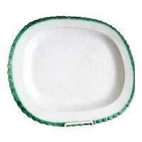 Large Green Shell Edge Platter