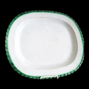 Large Green Shell Edge Platter