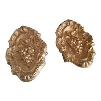 Pair of gilt brass rococo revival tiebacks