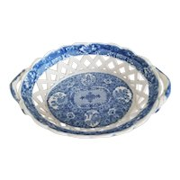 "Spode ""Net"" pattern chestnut basket"