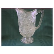 Late 19th Century Early American Pressed Glass Pitcher