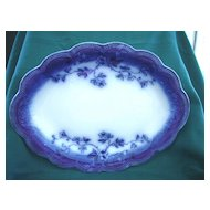 "Antique 1902 Flow Blue Platter by Johnson Brothers  Pattern ""St. Louis"""