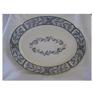 Antique Copeland Black on Ivory Platter 1800's