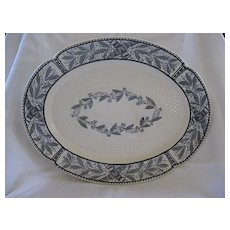 Antique Copeland Black on Ivory Platter 1800's