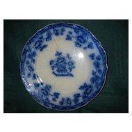 """Flow Blue 7"""" """"Pekin"""" Pattern Plate: A.E.J. & Co."""