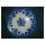 "Flow Blue 7"" ""Pekin"" Pattern Plate: A.E.J. & Co."