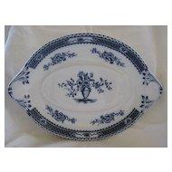 """Flow Blue Platter by Woods & Sons  Pattern """"Warwick"""""""