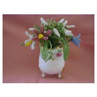 Vintage Bead Work in Small Limoges Vase France