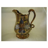 Copper Lusterware Medium Pitcher