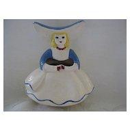 "Figural ""Goldammer"" Ceramic Girl Posy Planter/Vase"