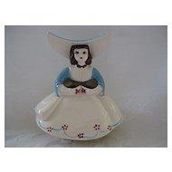 Figural Ceramic Girl Posy Planter/Vase by Goldammer