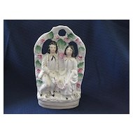 Staffordshire Figurine -  Grape Arbor with Two Figures - 19th Century