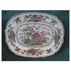 "19th C.  Staffordshire Ashworth and Brothers Platter  Pattern ""Hanley"""
