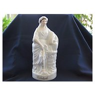 "Very Large Antique Staffordshire ""Rebekah"" Figurine 1860's"