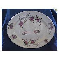Antique Large Aesthetic English Staffordshire Transferware Platter