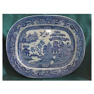 Blue Willow Platter by C.T. Maling 1859-90