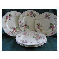"Set of Six 9"" Wedgwood & Co. 1950's Plates"
