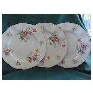 "Set of Three 10"" Wedgwood & Co. 1950's Plates"