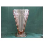 "Pink ""Adam"" Depression Glass 5 1/2"" Tumbler/ Glass"
