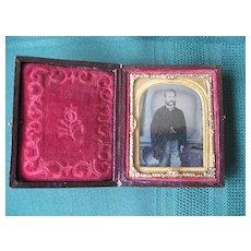 Gentleman Ambrotype in Case 1800's