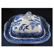 Blue Willow Vegetable Dish with Lid