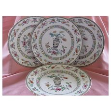 "Antique Royal Doulton Set of Four10"" Plates with Oriental Pattern"