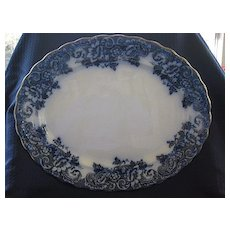 "Flow Blue Platter - Middleport Pottery - Pattern ""Florence"""