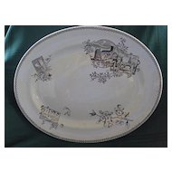 Aesthetic English Staffordshire Platter