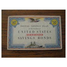 United States Defense Savings Bonds Stamp Album