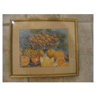 """Vintage Framed Fruit Print 8"""" x 10"""""""