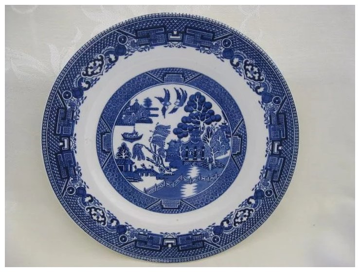 Blue Willow Plate Made In England
