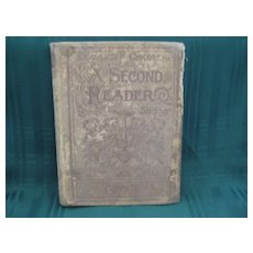 "Late 1800's School Book ""  A Second Reader""  Classics for Children"