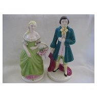 Vintage Pair of Colonial Dressed Figurines
