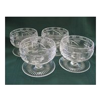 Pair of Cut Glass Crystal Sherbets